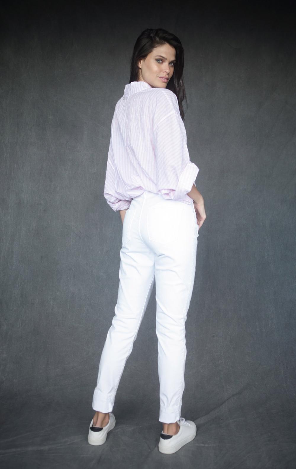 Camisa Tricoline Bruna Rosa  - Foto 2