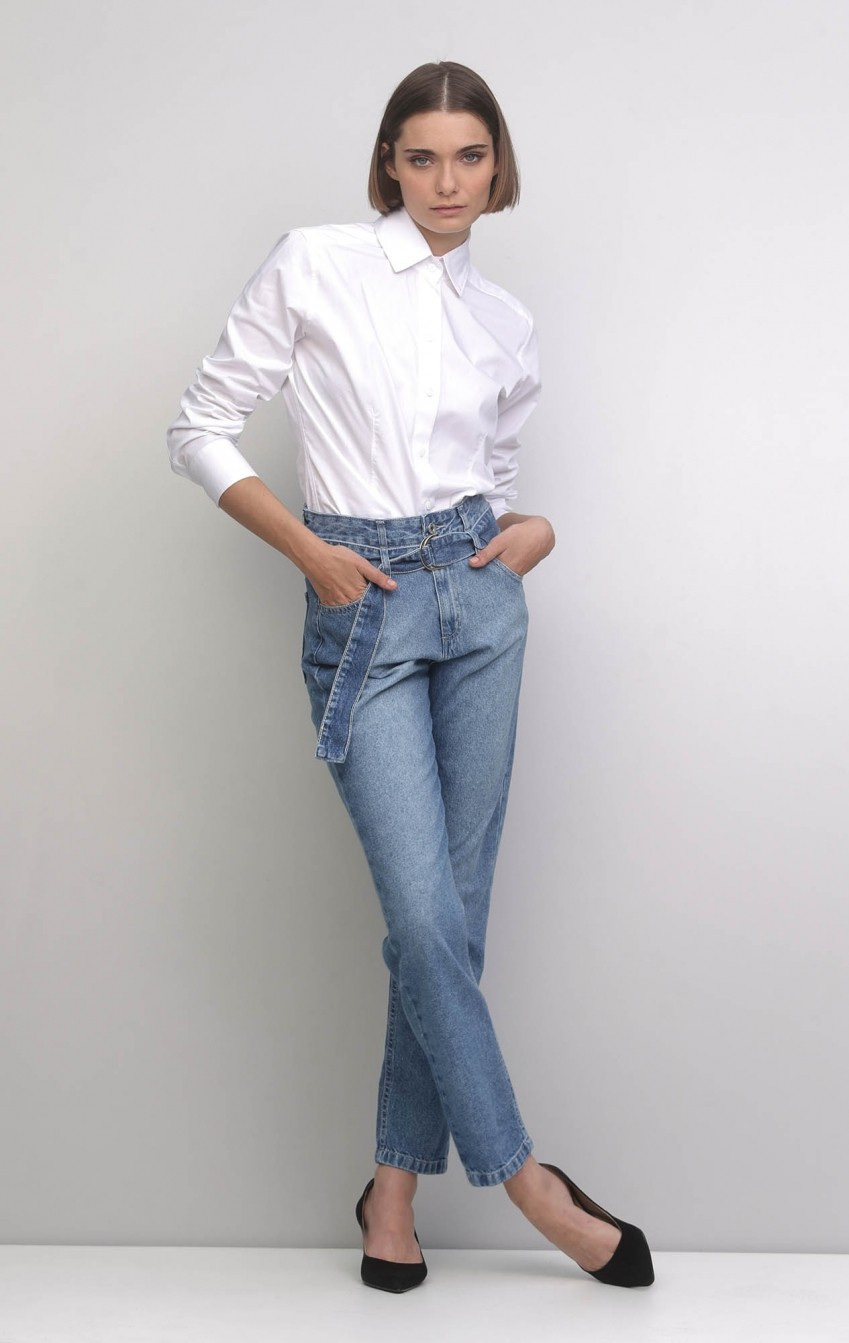 Camisa Tricoline Etro Branco - Foto 1
