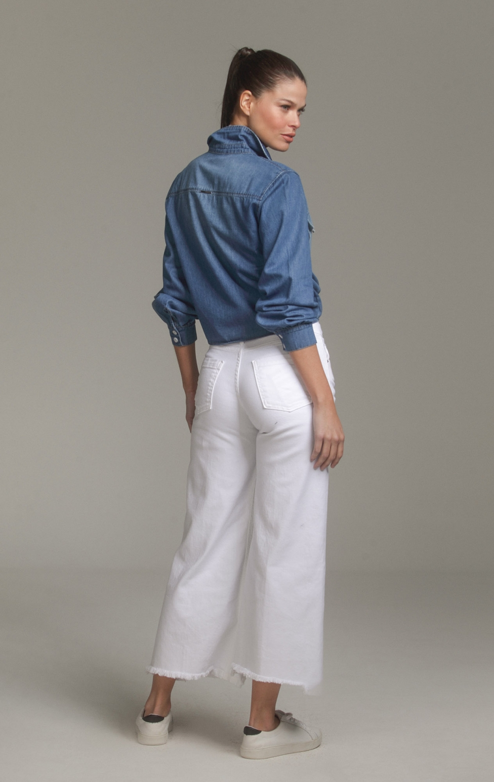 Camisa Tuca Tencel Jeans - Foto 2