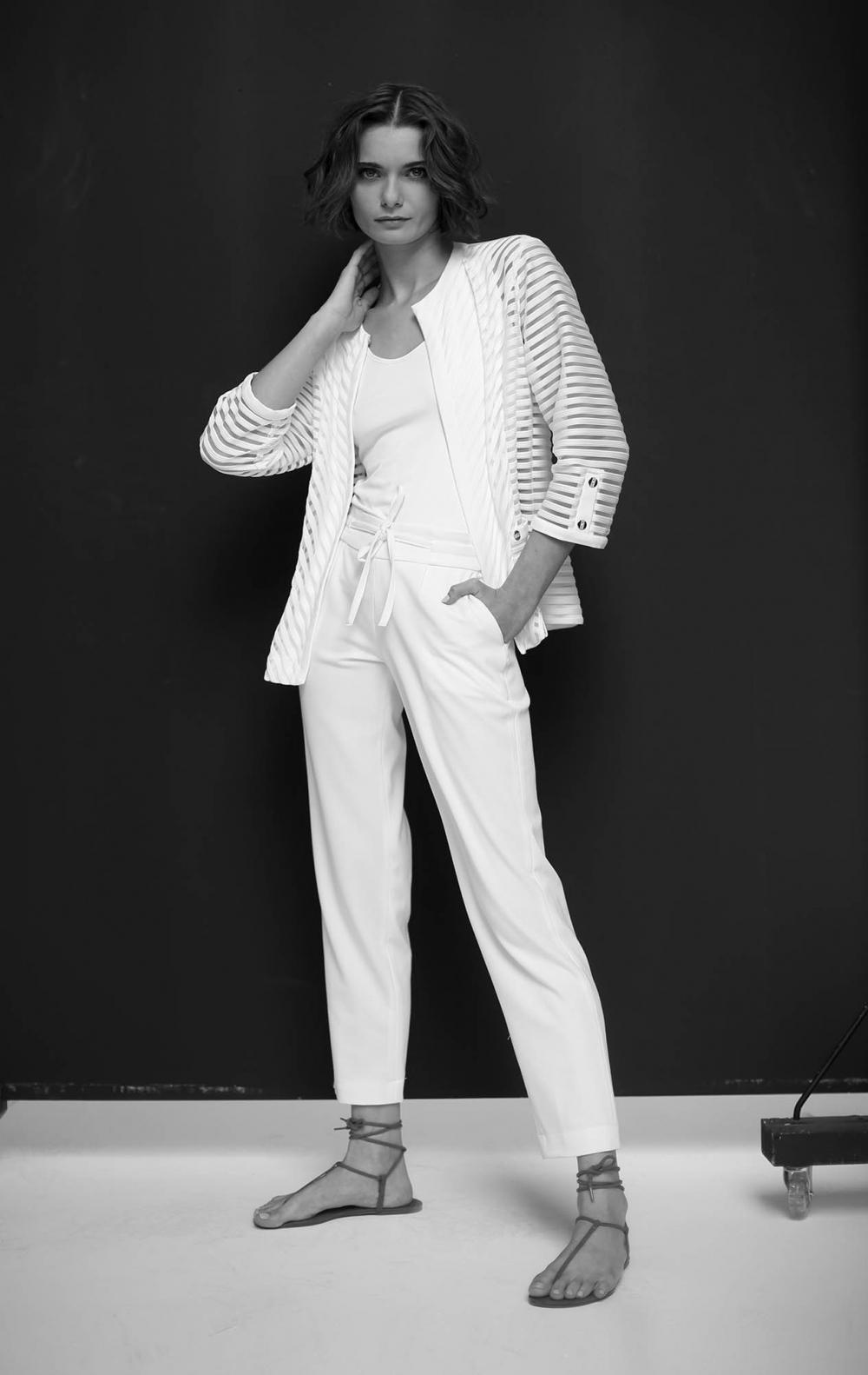 Blusa Twin Set de Malha  Jaqueta + Regata Malha Off White   - Foto 1