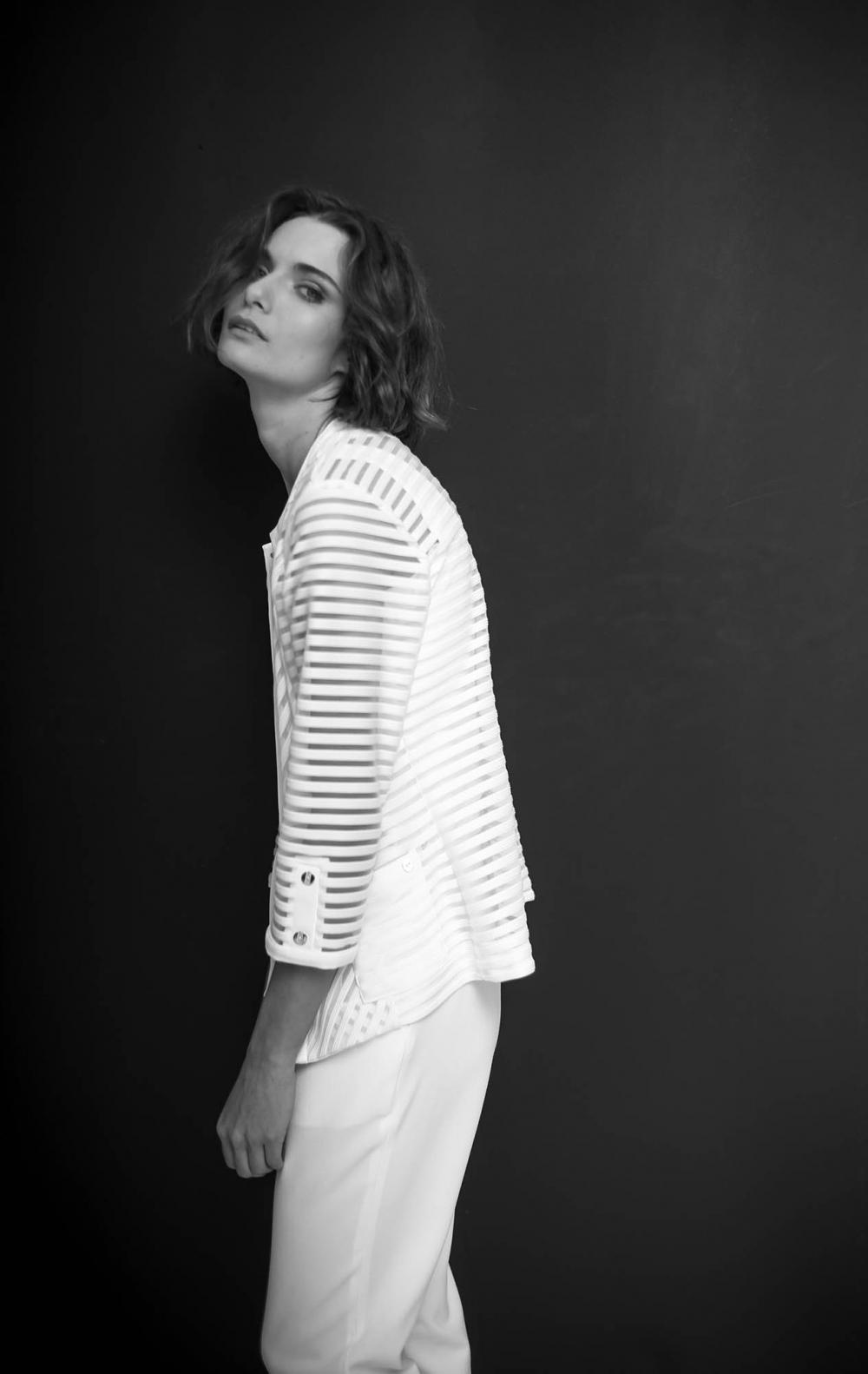 Blusa Twin Set de Malha  Jaqueta + Regata Malha Off White   - Foto 2
