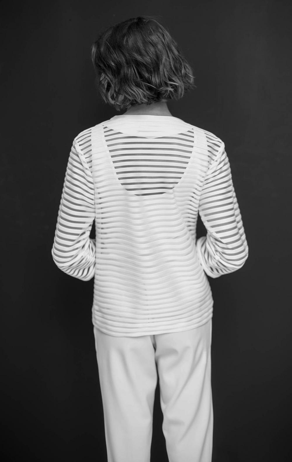 Blusa Twin Set de Malha  Jaqueta + Regata Malha Off White   - Foto 3
