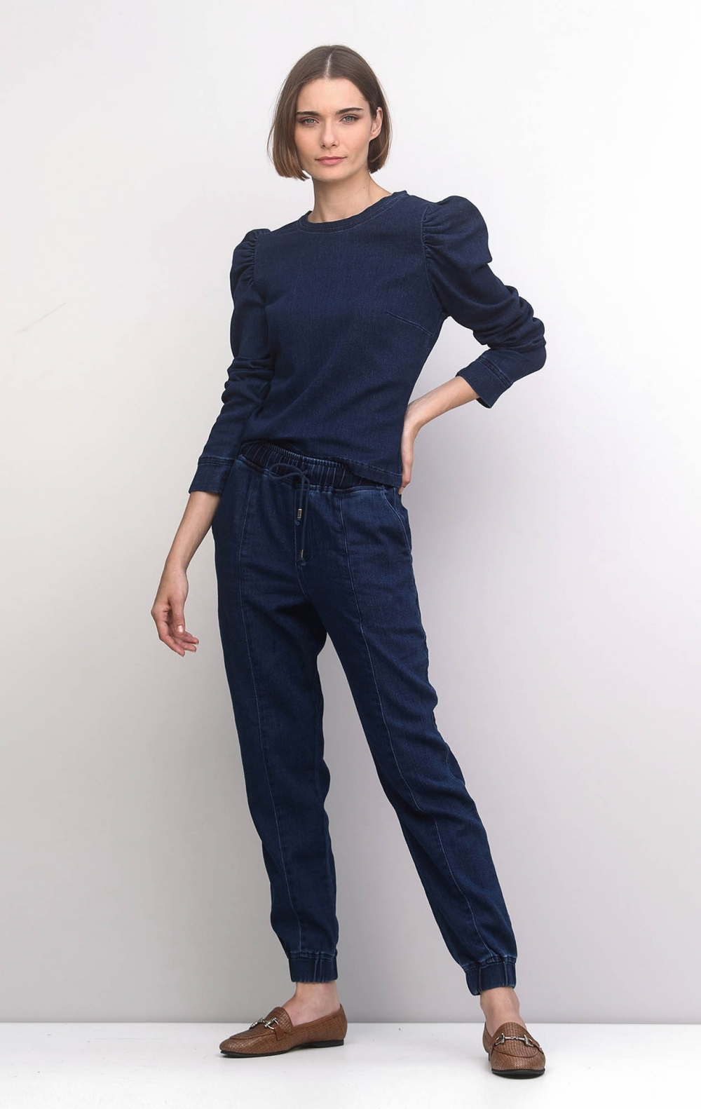 Conjunto Jeans Moletom Slim - Foto 1