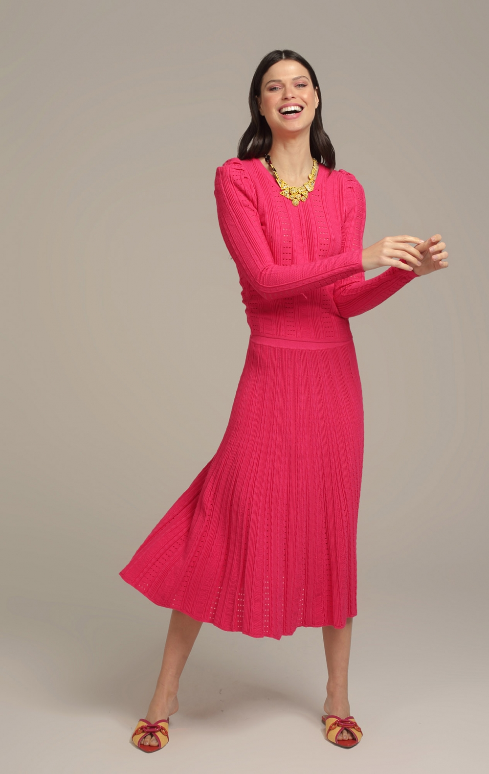Conjunto Maia Tricot Pink - Foto 1