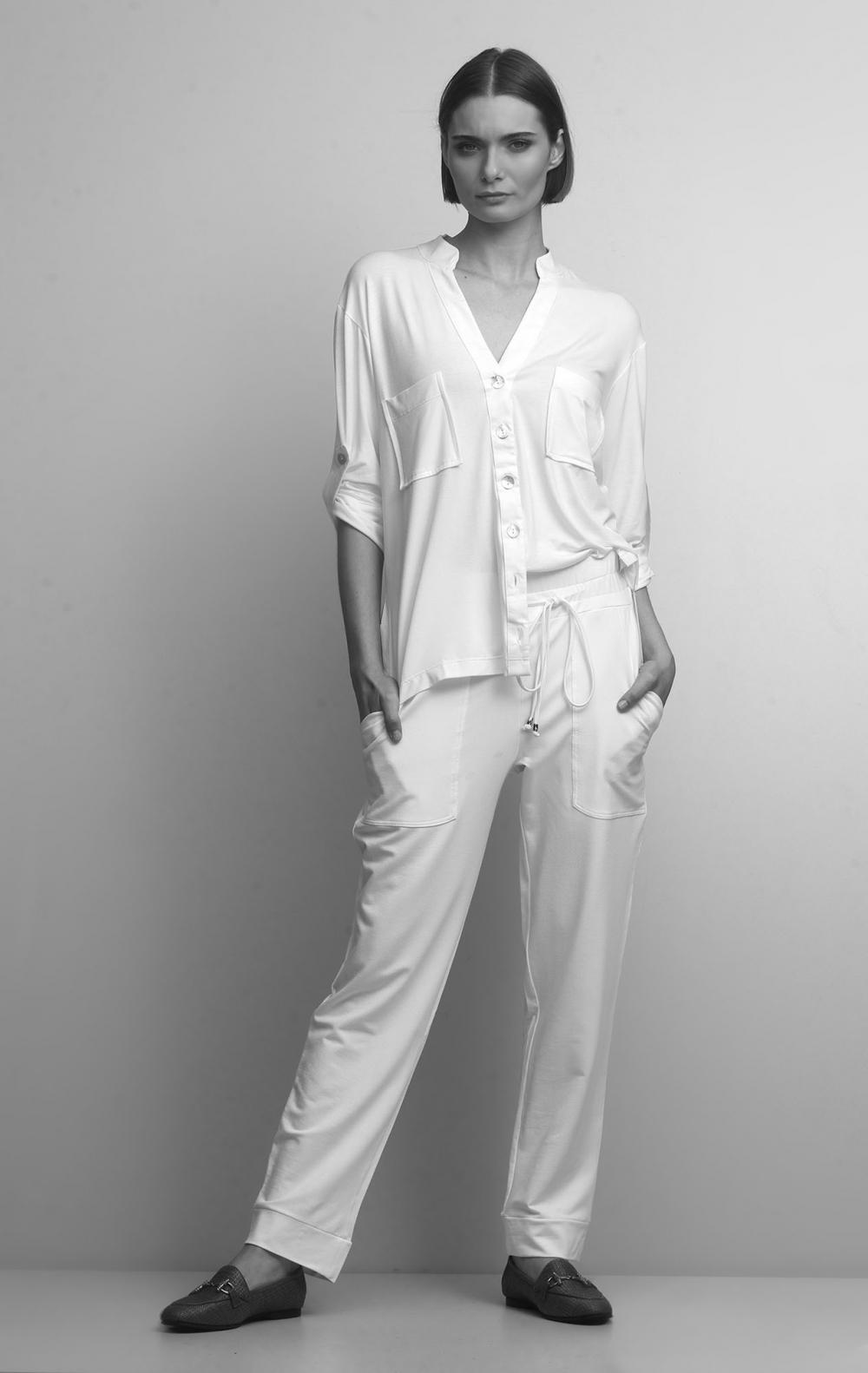 Conjunto Malha com Camisa Off White - Foto 1