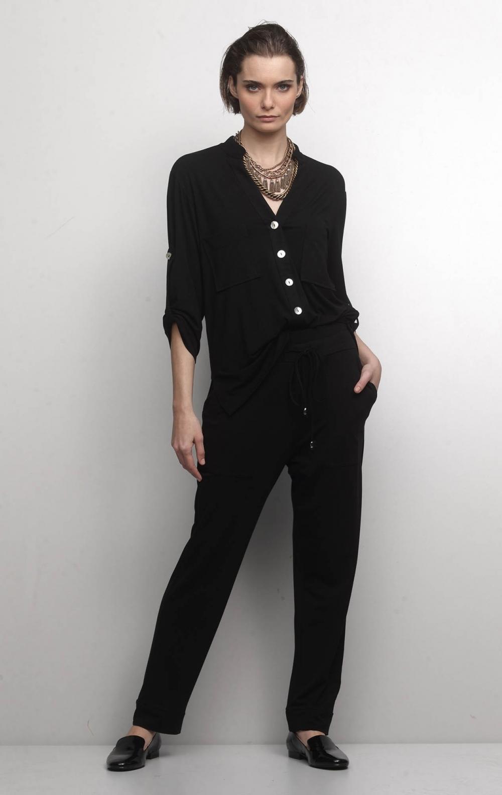 Conjunto Malha com Camisa Preto   - Foto 1