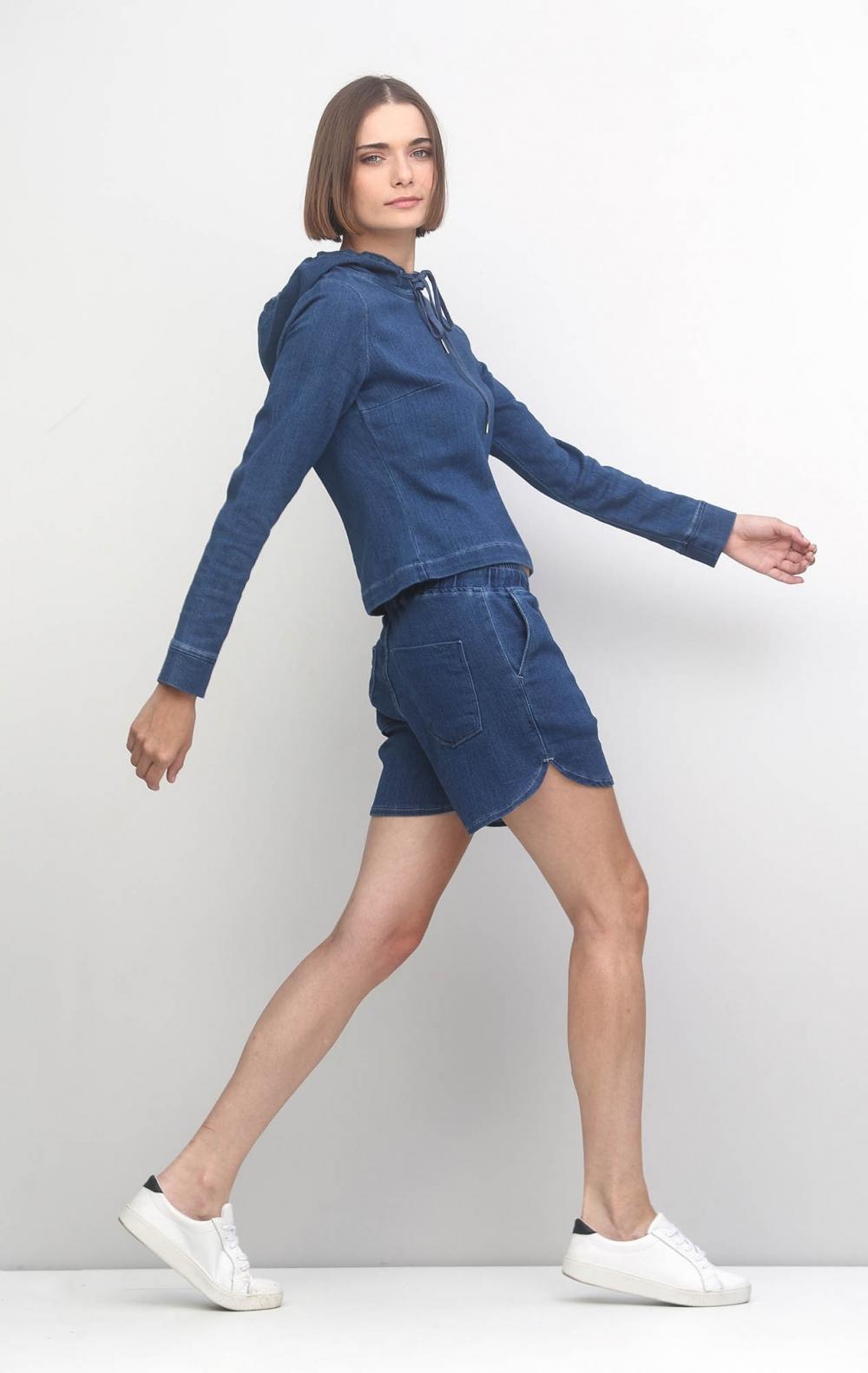Conjunto Moletom Jeans Curto  - Foto 2