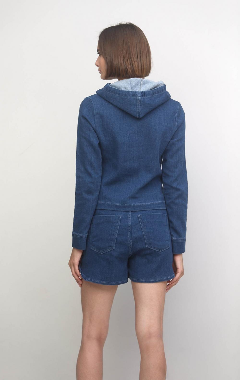 Conjunto Moletom Jeans Curto  - Foto 3