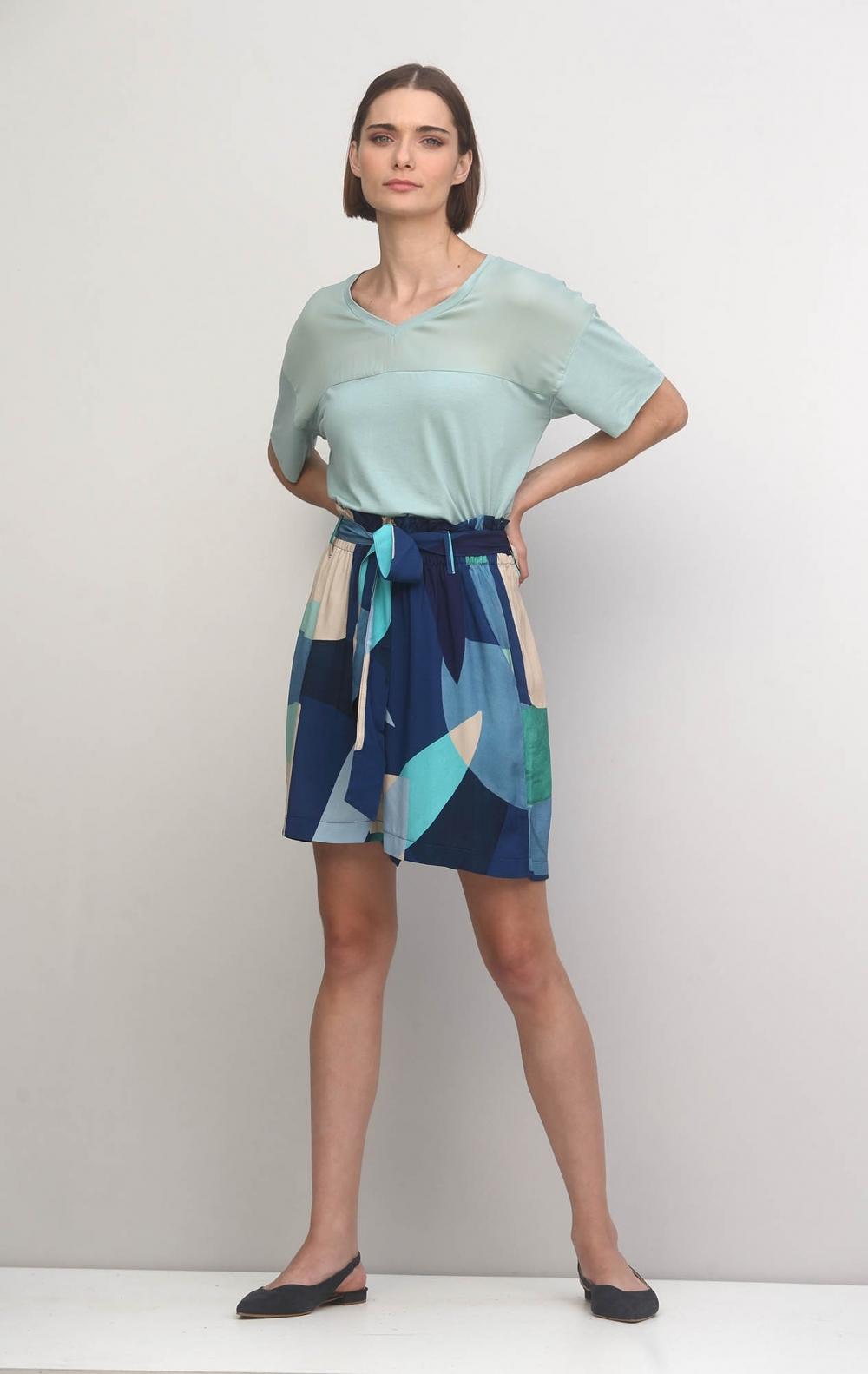 Shorts Estampado Blue Jeans - Foto 1