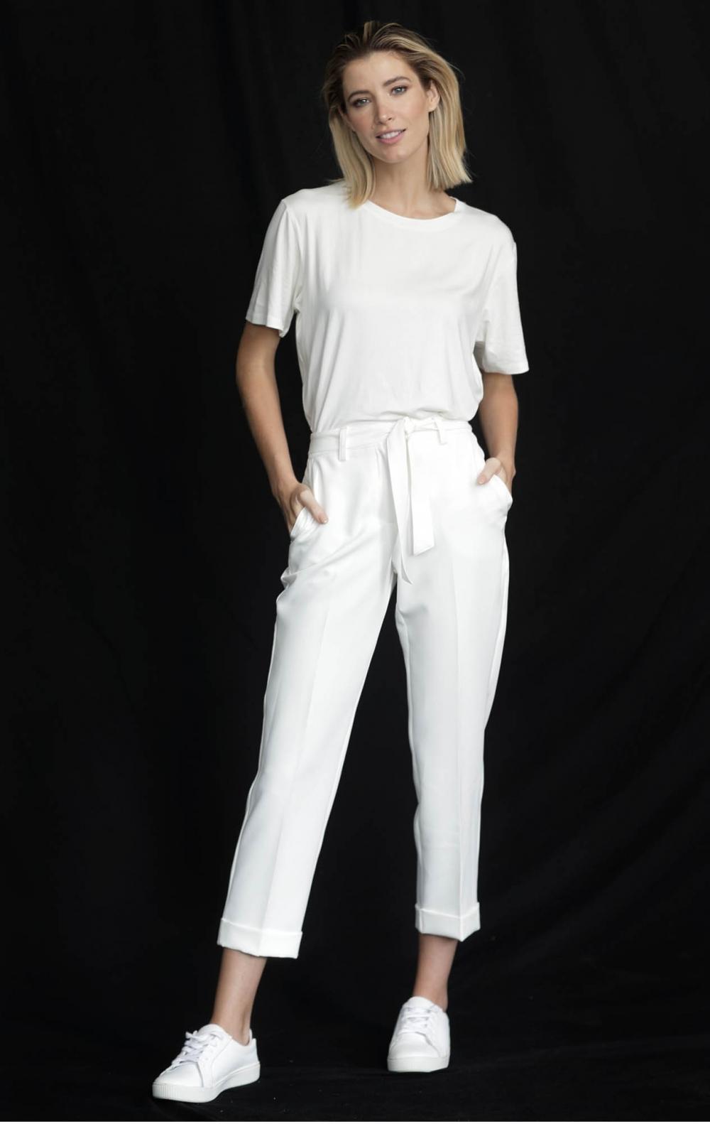 T-Shirt CB Viscocrepe Off White  - Foto 2