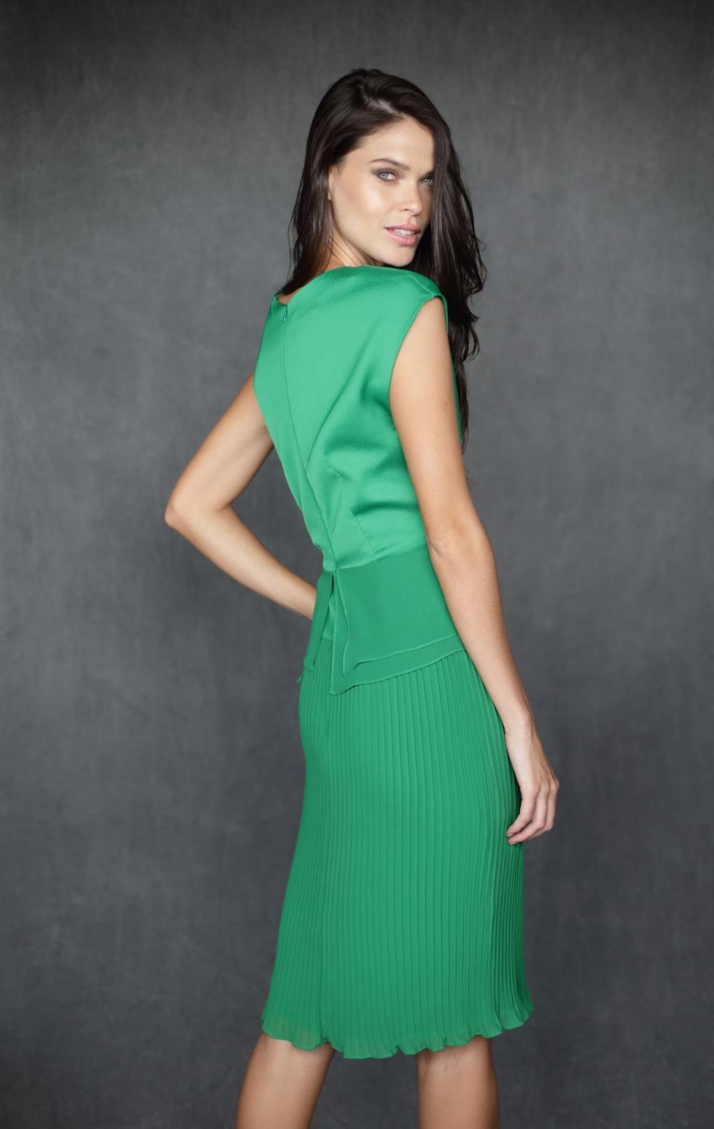 Vestido Carven Plissado Green - Foto 2