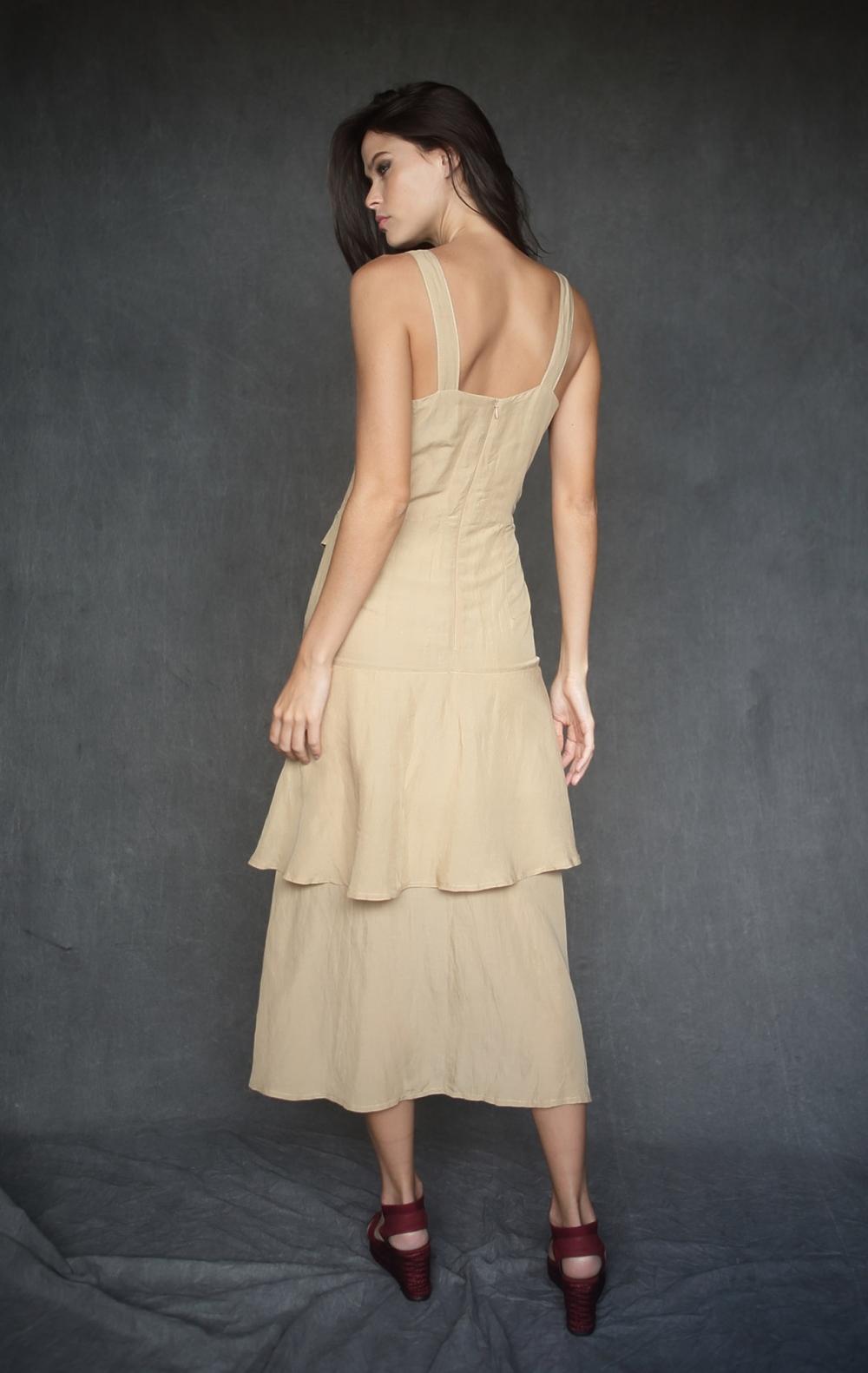 Vestido Cinto Fivela Bambu - Foto 2