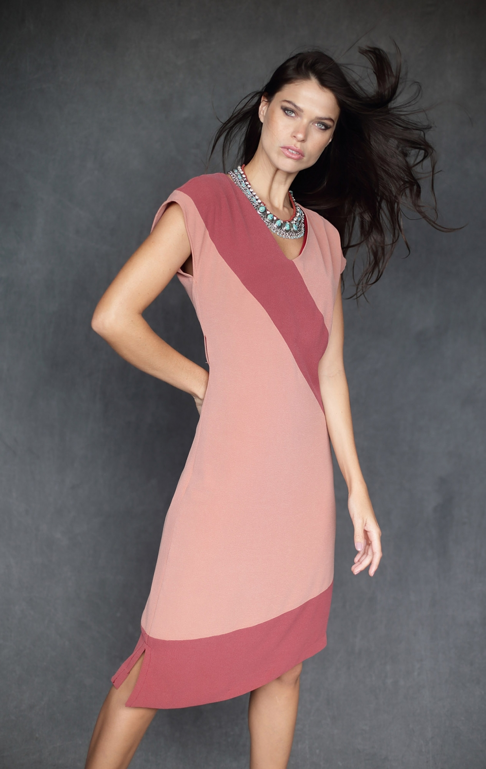 Vestido Claudel Rosa  - Foto 1