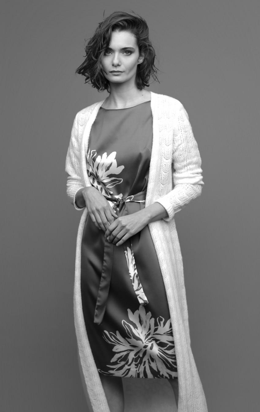 Vestido Condotti Estampado Cinza - Foto 2
