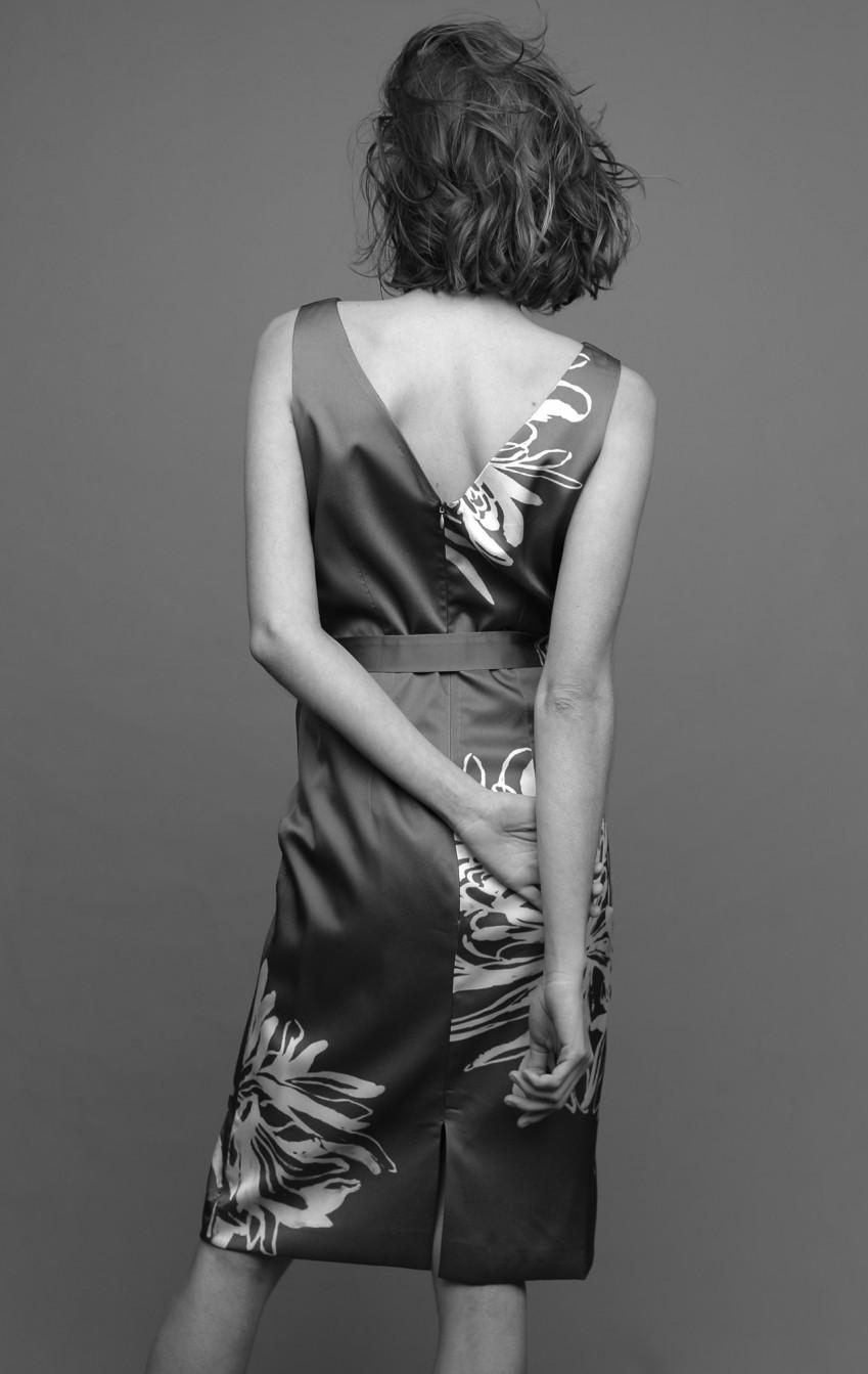 Vestido Condotti Estampado Cinza - Foto 3
