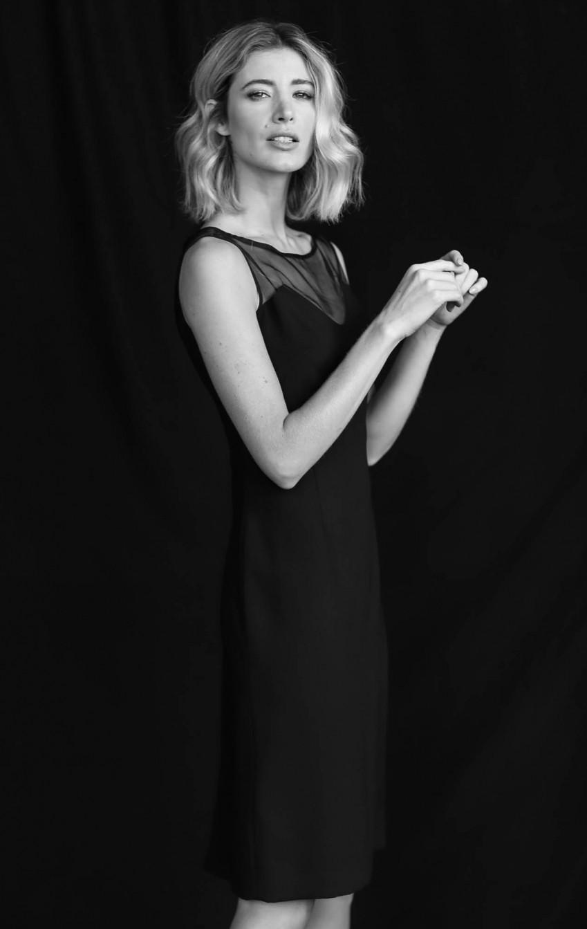 Vestido Crepe com Transparência  Preto Carol   - Foto 2