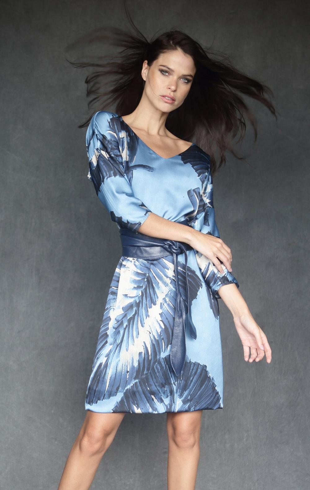 Vestido Estampado Azul  - Foto 1
