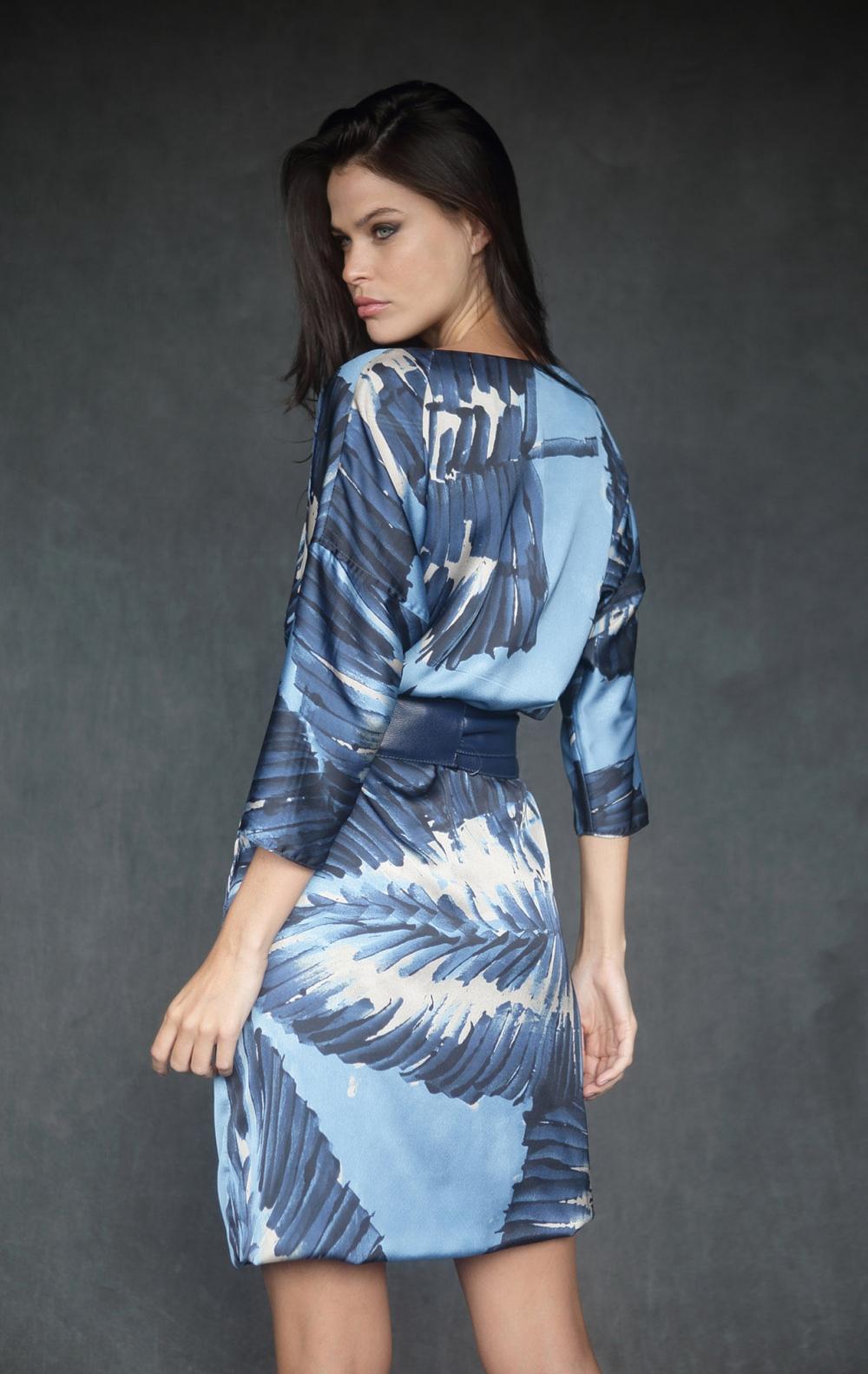 Vestido Estampado Azul  - Foto 2
