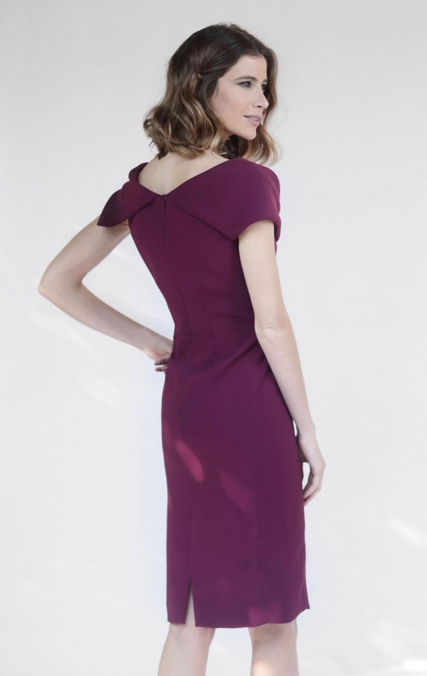 Vestido Gabrielle Bordo - Foto 2