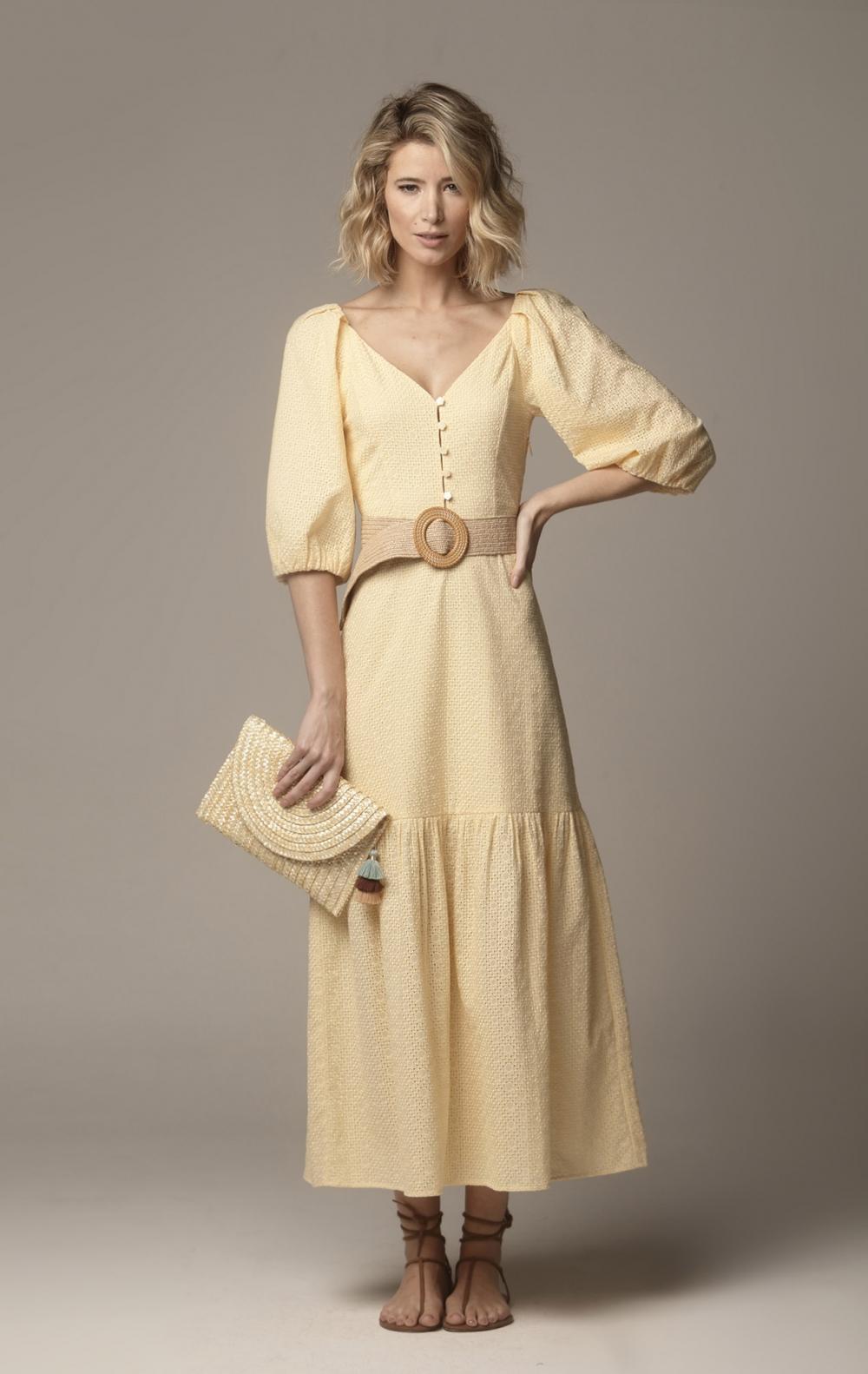 Vestido Kelly Manteiga - Foto 1