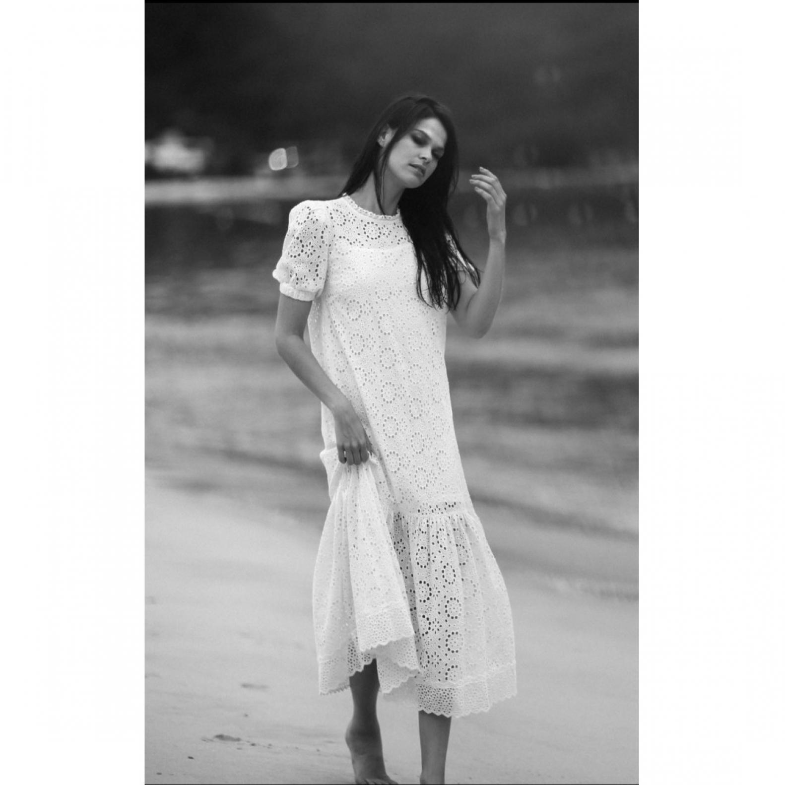 Vestido Laise Branco - Foto 1