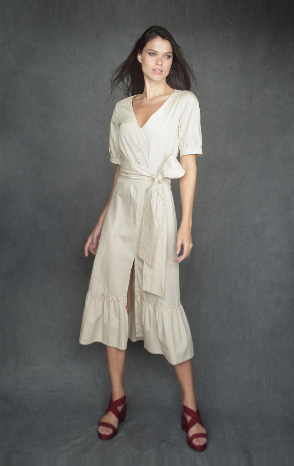Vestido Leila Bege  - Foto 1