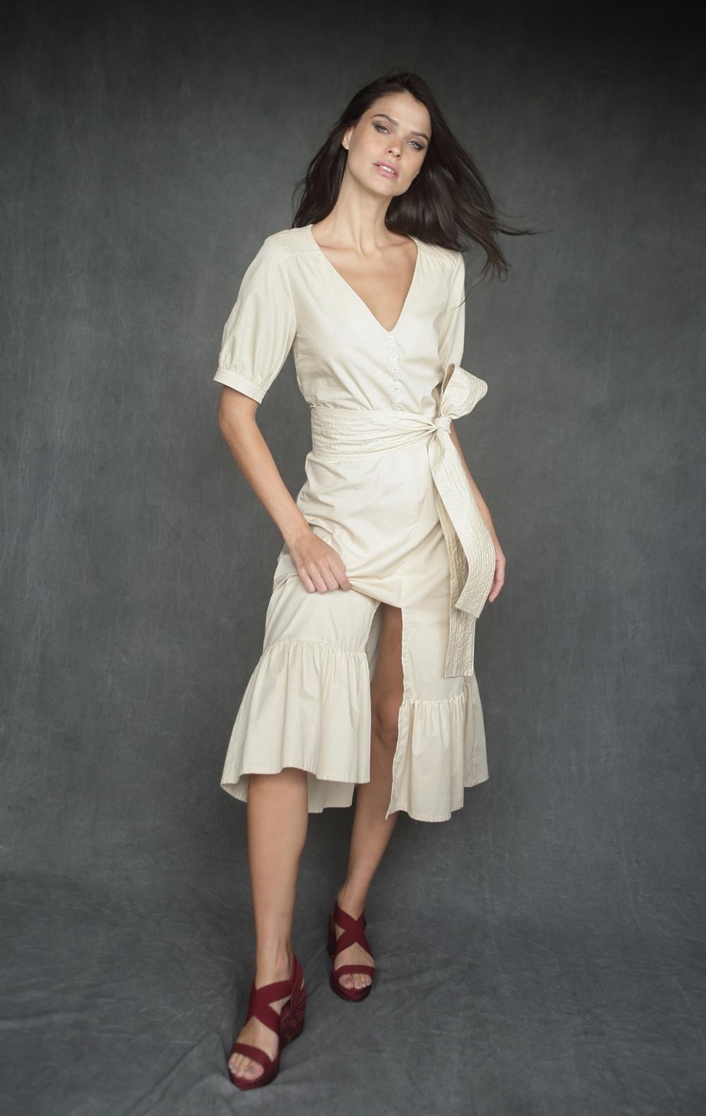 Vestido Leila Bege  - Foto 2