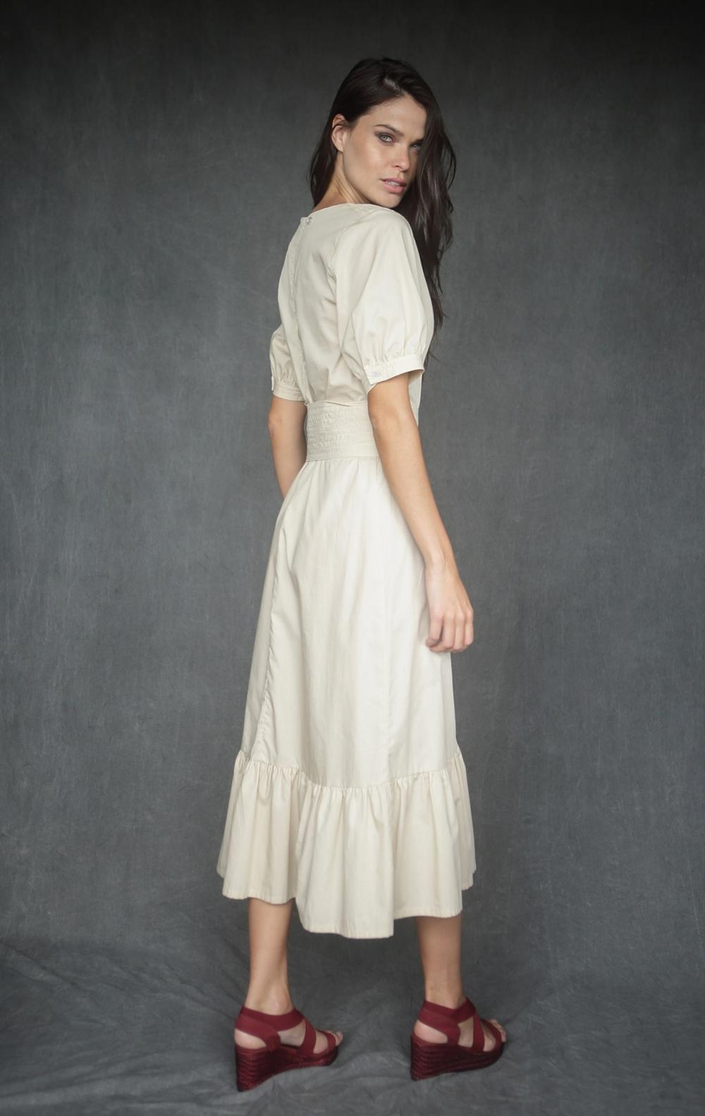 Vestido Leila Bege  - Foto 3