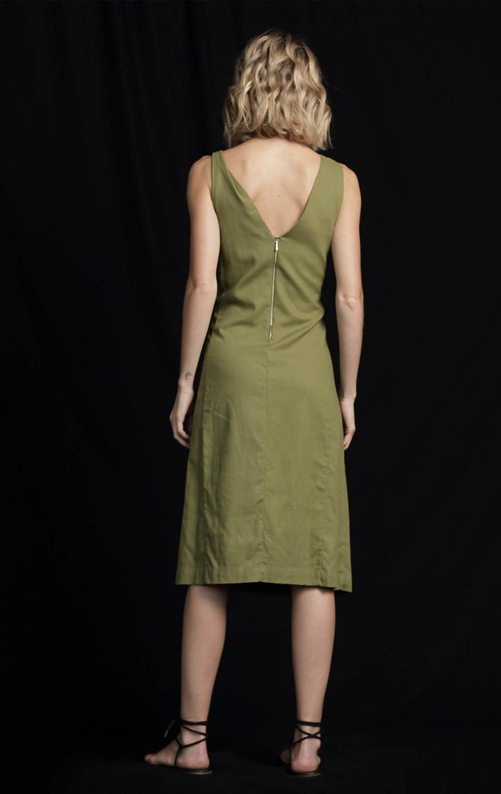 Vestido Linho Linox Verde - Foto 2