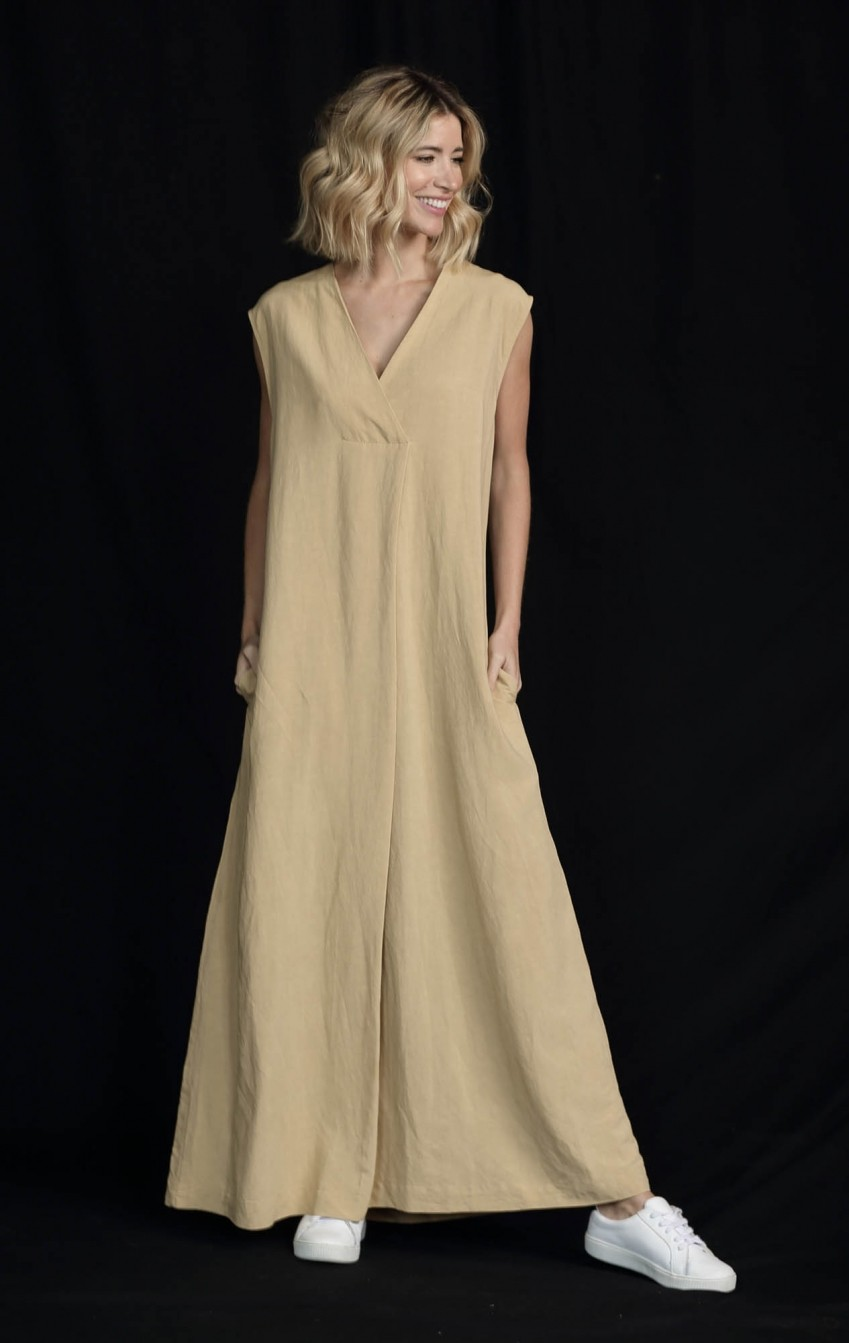 Vestido Liocel Agata Bege   - Foto 1