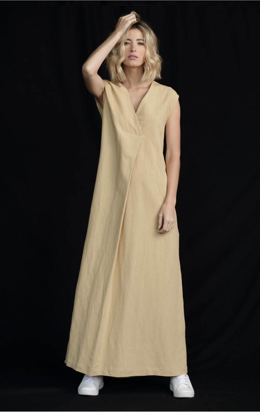 Vestido Liocel Agata Bege   - Foto 2