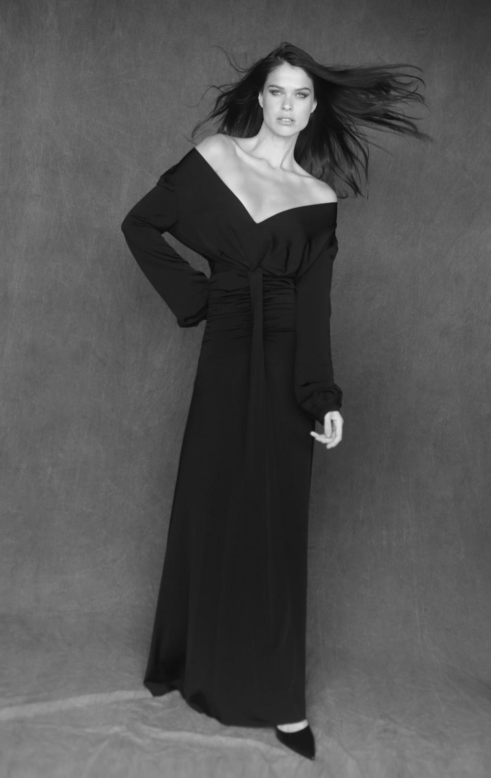 Vestido Longo Drapeado Longo  - Foto 1