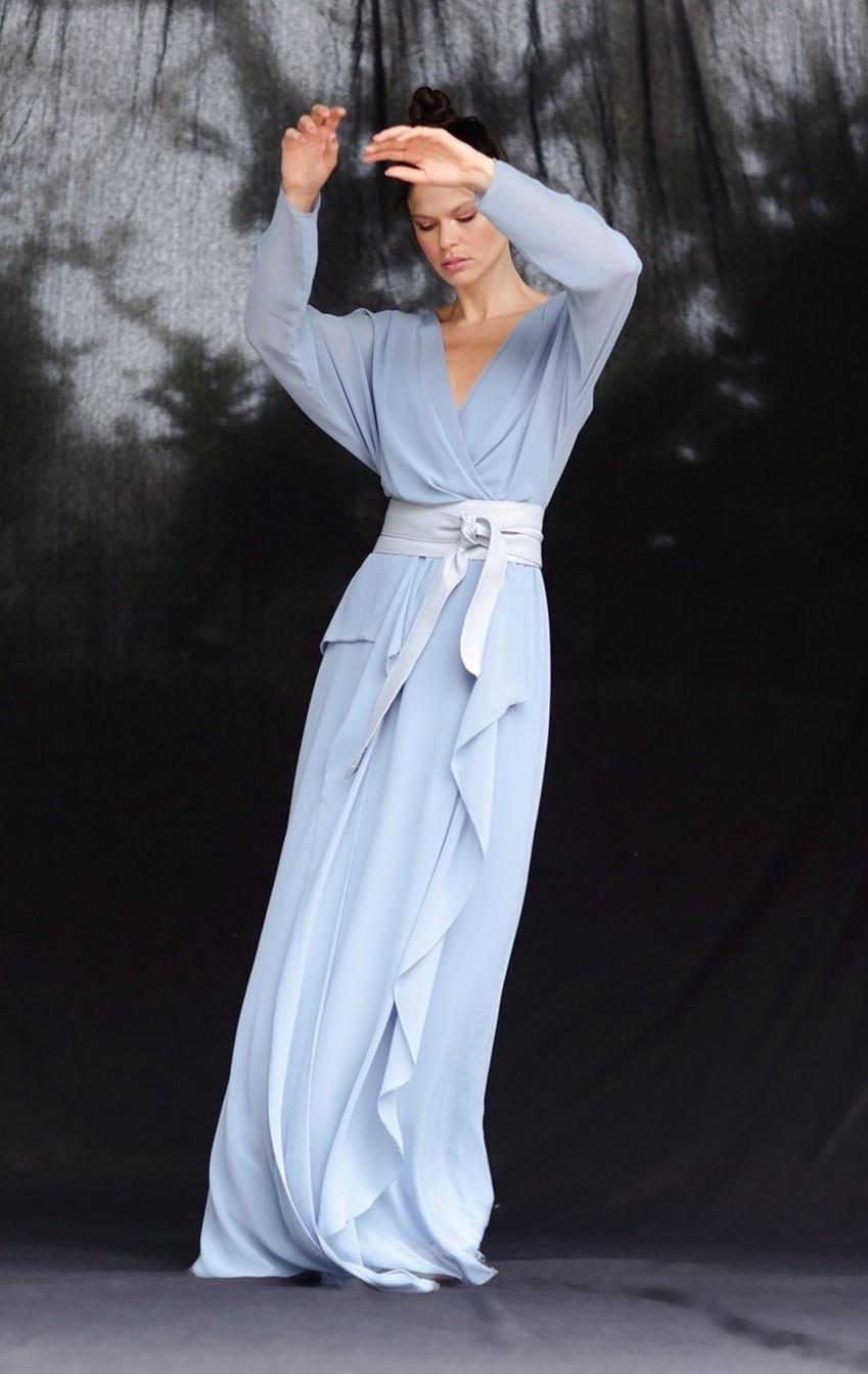 Vestido Musseline Festa Azul Claro  - Foto 2