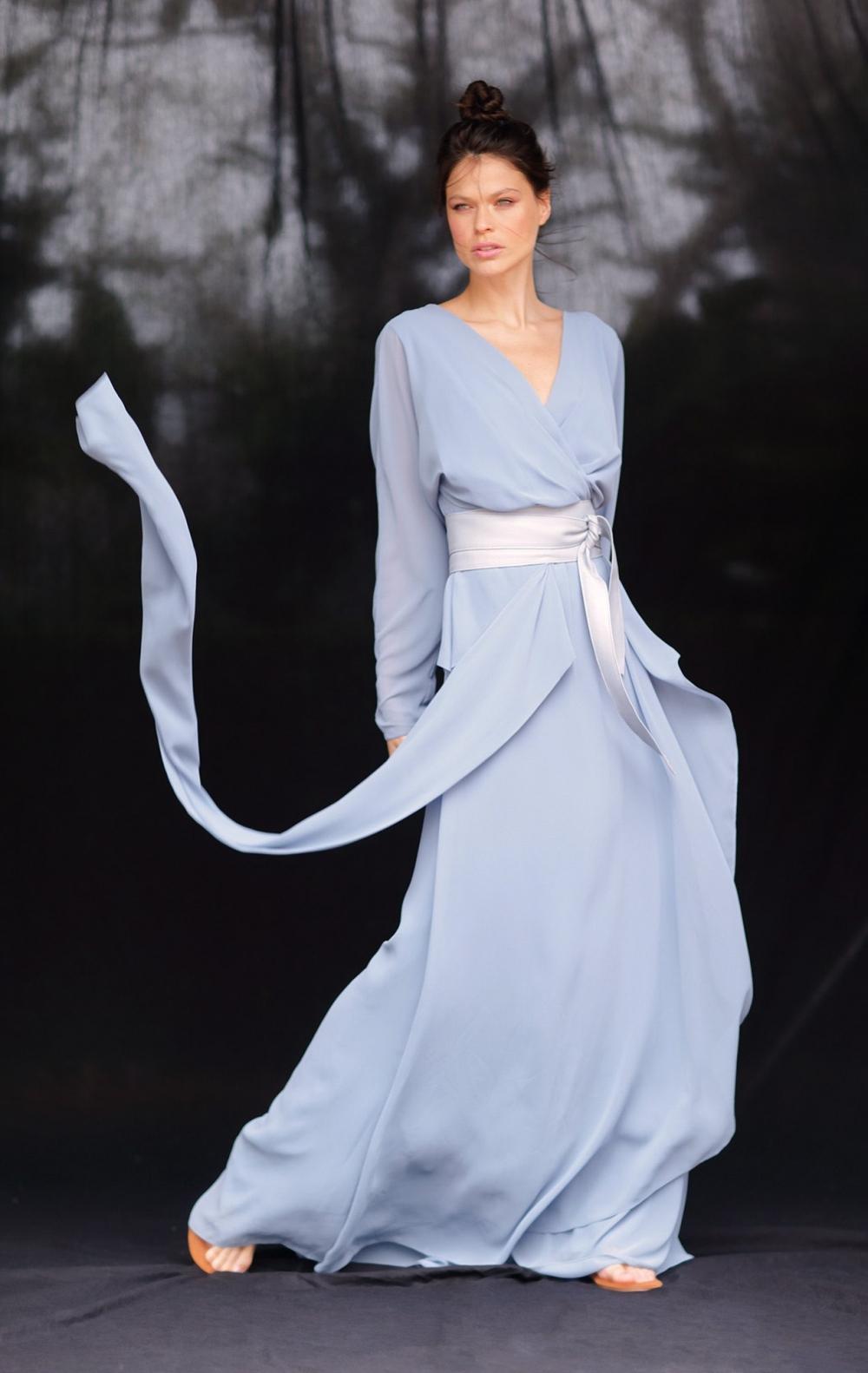 Vestido Musseline Festa Azul Claro  - Foto 3