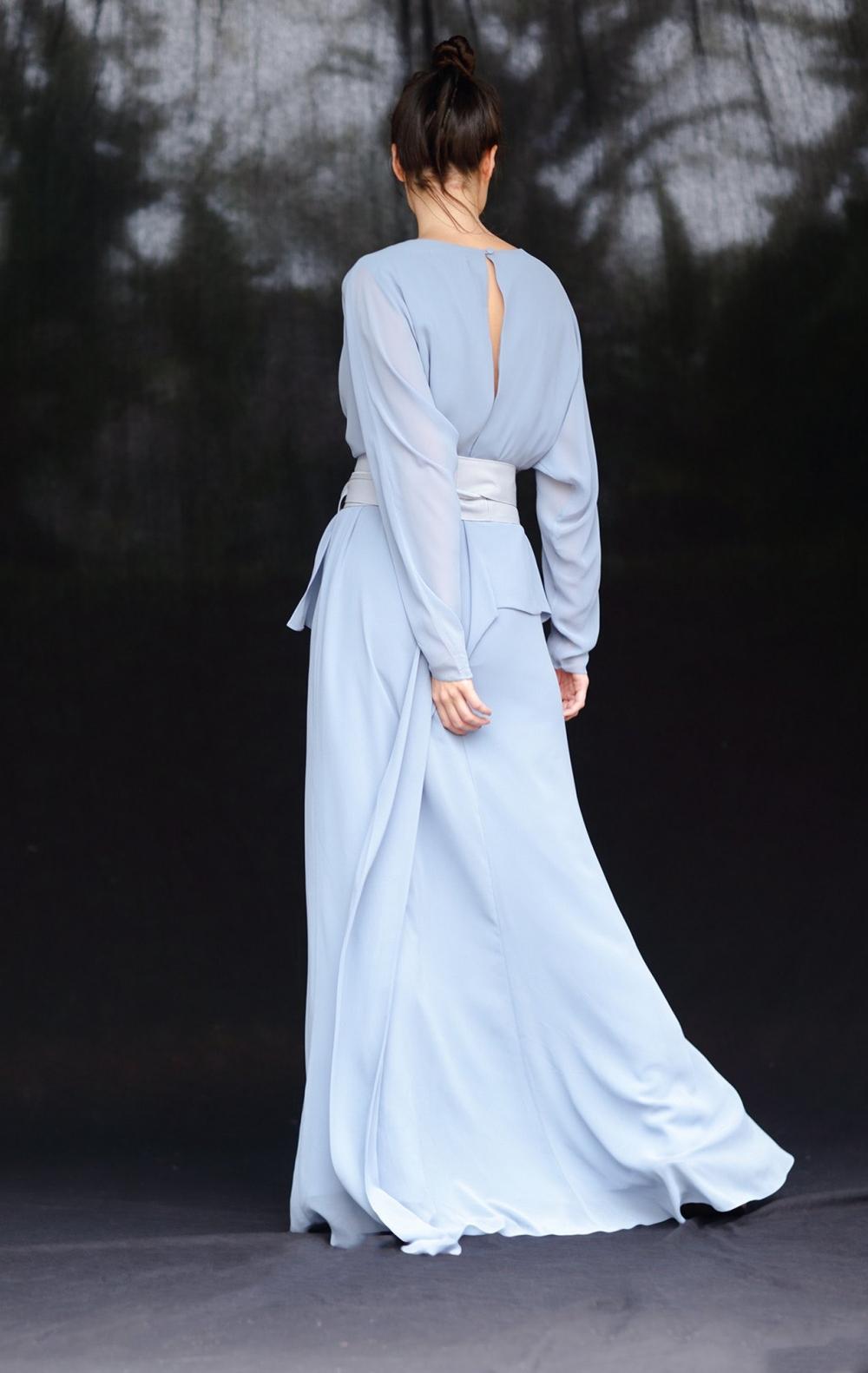 Vestido Musseline Festa Azul Claro  - Foto 4