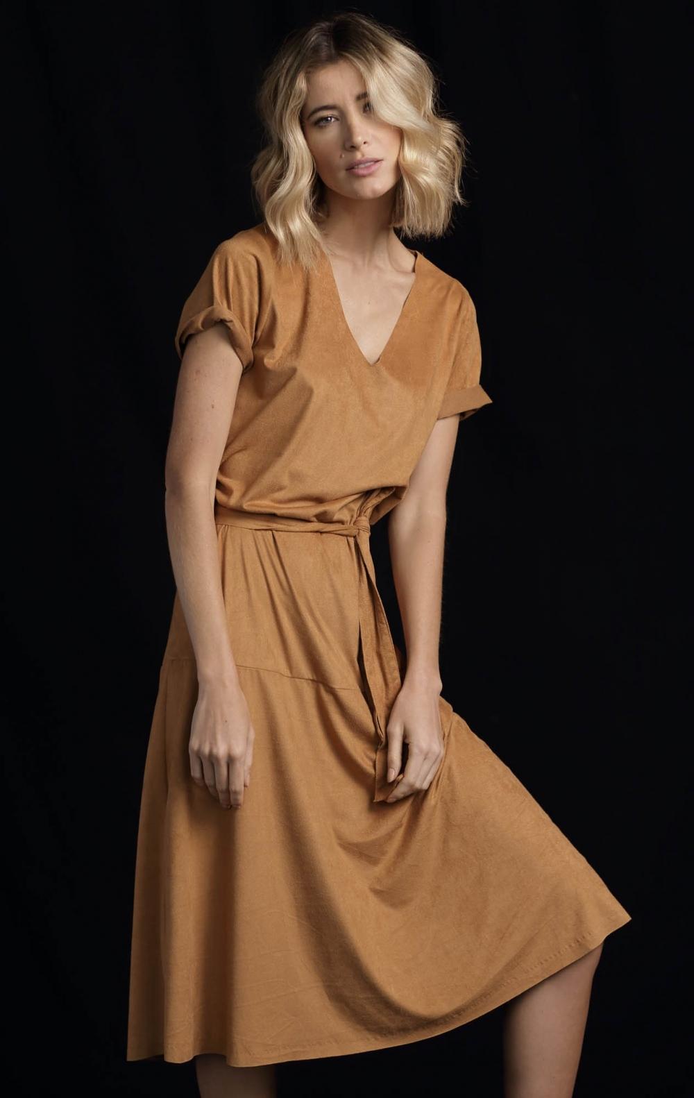 Vestido Suede Midi  - Foto 1