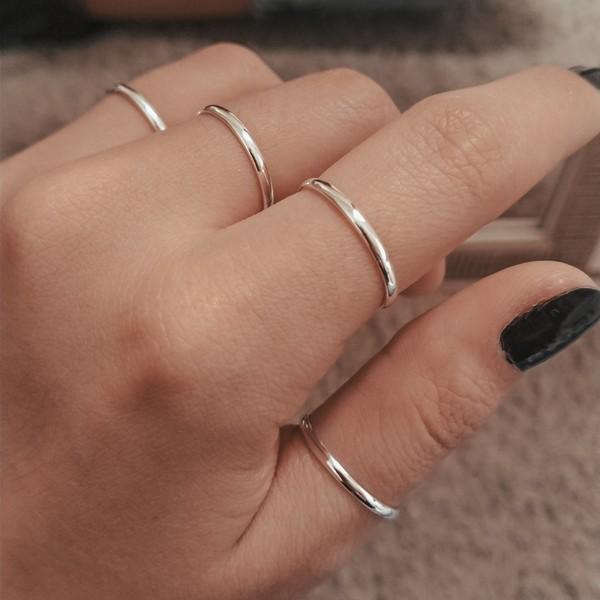 Anel aliança minimalista - Prata 925