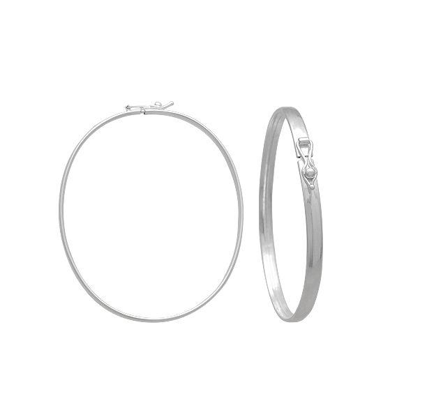 Bracelete Oval - Prata 990