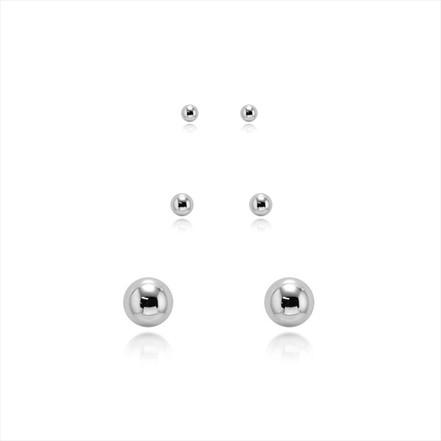 Brinco bolinha - Prata 925 - Escolha o tamanho