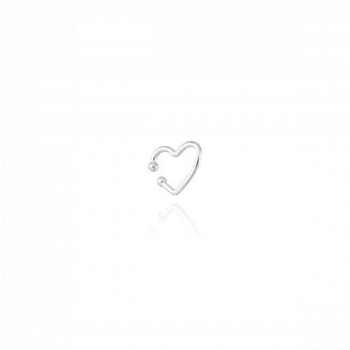 Piercing Fake Coração - Prata 925