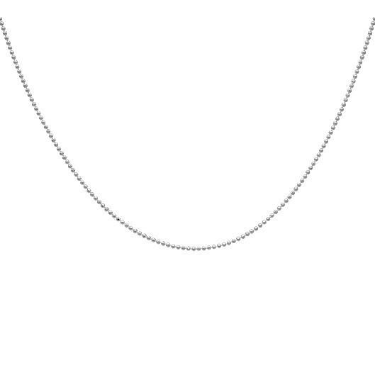 Corrente bolinhas diamantadas - Prata 925 - ver tamanhos