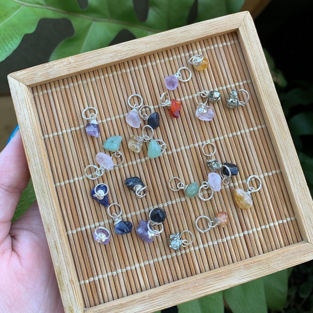 Mini Pingente Pedras Naturais - Prata 925