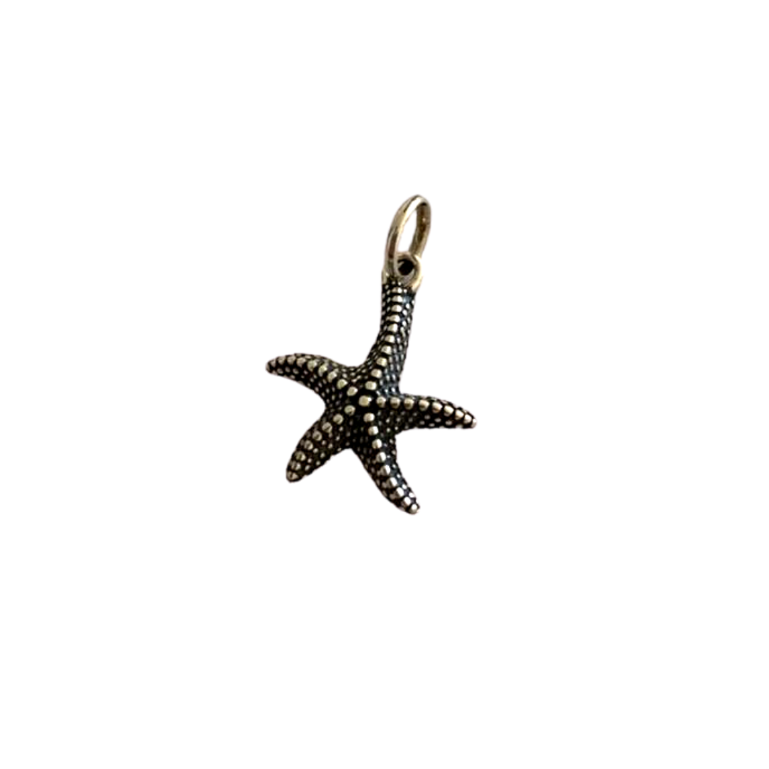 Pingente Estrela do Mar Envelhecida - Prata 925