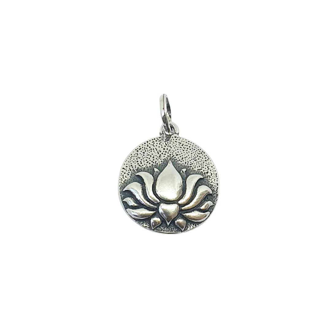Pingente Flor de Lótus - Prata 925