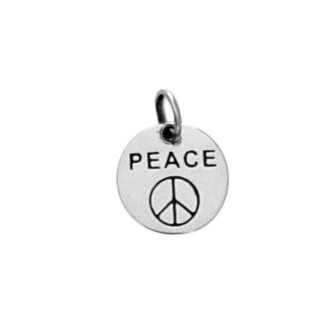 Pingente Medalha Peace - Prata 925