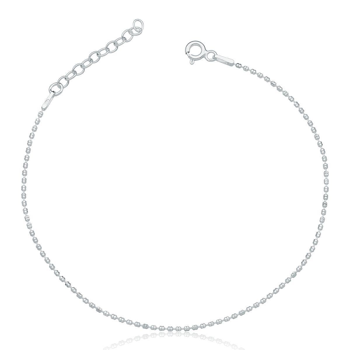 Pulseira Bolinha Diamantada - Prata 925