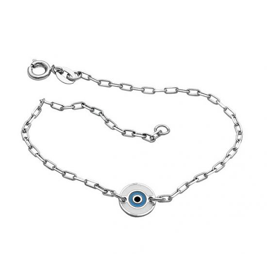 Tornozeleira Olho Grego - Prata 990