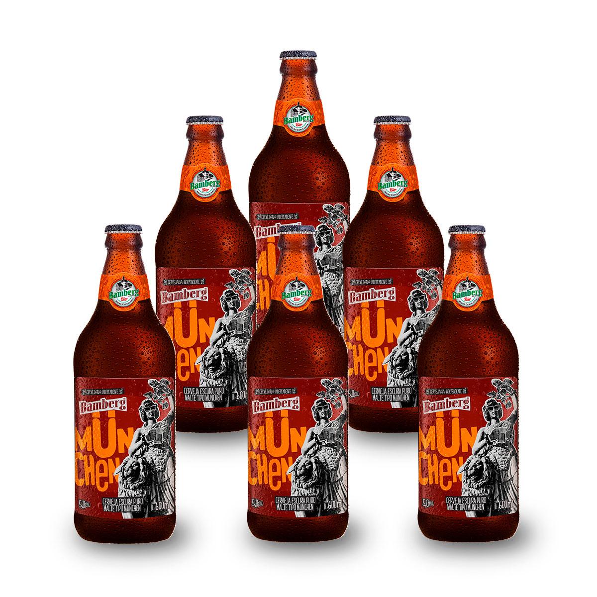 06 unidades - Cerveja Bamberg München 600 ml