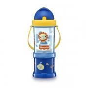 Copo com Porta Snack Playfyl Summer Sky 300ml (Azul) - Fisher-Price