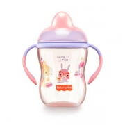 Copo de Treinamento Com Bico Semi-Rígido First Moments (Rosa Glitter) - Fisher-Price